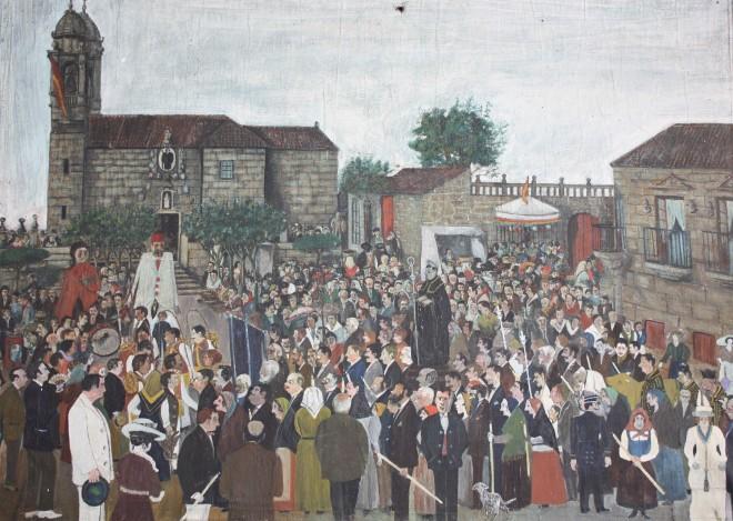 Procesión de San Benito na Praza de Fefiñáns
